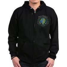New Mexico Green Pride Zip Hoodie