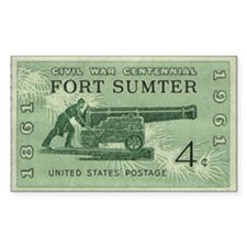 Fort Sumter Civil War Rectangle Decal