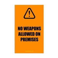 No Weapons Allowed Decal