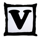 Large Letter V Throw Pillow