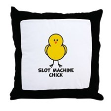 Slot Machine Chick Throw Pillow