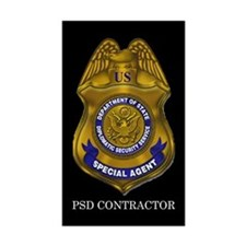 DSS Contractor Rectangle Sticker 10 pk)