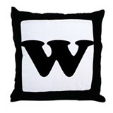 Large Letter W Throw Pillow