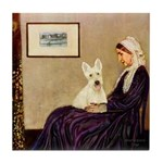 Whistlers / Scottie (w) Tile Coaster