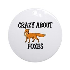 Crazy About Foxes Ornament (Round)