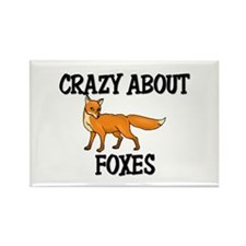 Crazy About Foxes Rectangle Magnet (10 pack)