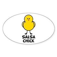 Salsa Chick Oval Decal