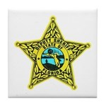 Florida Sheriff Tile Coaster