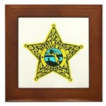 Florida Sheriff Framed Tile