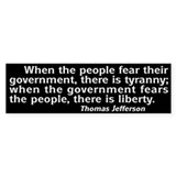 Tyranny / Liberty Bumper Bumper Sticker