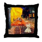 Cafe / Scottie (w) Throw Pillow