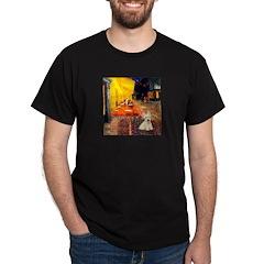 Cafe / Scottie (w) Dark T-Shirt