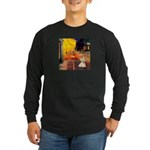 Cafe / Scottie (w) Long Sleeve Dark T-Shirt