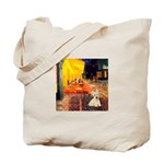 Cafe / Scottie (w) Tote Bag