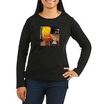 Cafe / Scottie (w) Women's Long Sleeve Dark T-Shir