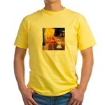 Cafe / Scottie (w) Yellow T-Shirt
