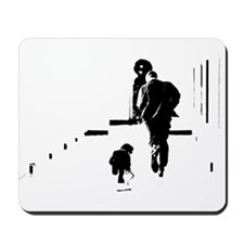 Barack Obama + Bo Running Mousepad