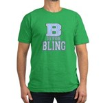 B is for Bling Men's Fitted T-Shirt (dark)