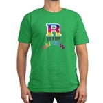 R is for Rainbow Men's Fitted T-Shirt (dark)