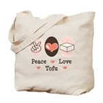 Peace Love Tofu Tote Bag