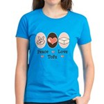 Peace Love Tofu Women's Dark T-Shirt