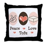Peace Love Tofu Throw Pillow