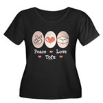 Peace Love Tofu Women's Plus Size Scoop Neck Dark