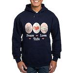 Peace Love Tofu Hoodie (dark)