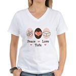 Peace Love Tofu Women's V-Neck T-Shirt
