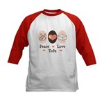 Peace Love Tofu Kids Baseball Jersey
