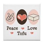 Peace Love Tofu Tile Coaster
