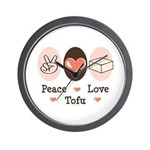 Peace Love Tofu Wall Clock