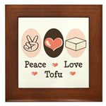 Peace Love Tofu Framed Tile