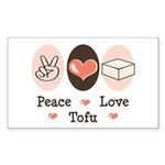 Peace Love Tofu Rectangle Sticker 50 pk)