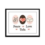 Peace Love Tofu Framed Panel Print