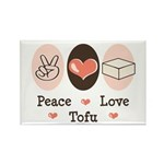Peace Love Tofu Rectangle Magnet