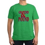 Ground & Pound Men's Fitted T-Shirt (dark)