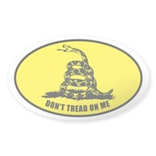 Don't Tread On Me Oval Sticker (10 pk)