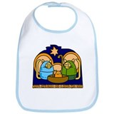 Christmas Cat Nativity Scene Bib
