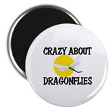 Crazy About Dragonflies Magnet