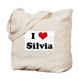 I Love Silvia Tote Bag