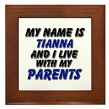 my name is tianna and I live with my parents Frame