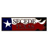 Secede Texas Wavy Flag Black Bumper Sticker