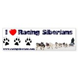 MCK I love Racing Siberians Bumper Bumper Sticker