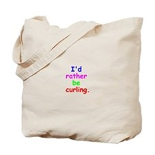 Cute Curling Tote Bag