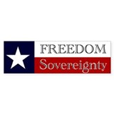 Texas Sovereignty Bumper Bumper Sticker