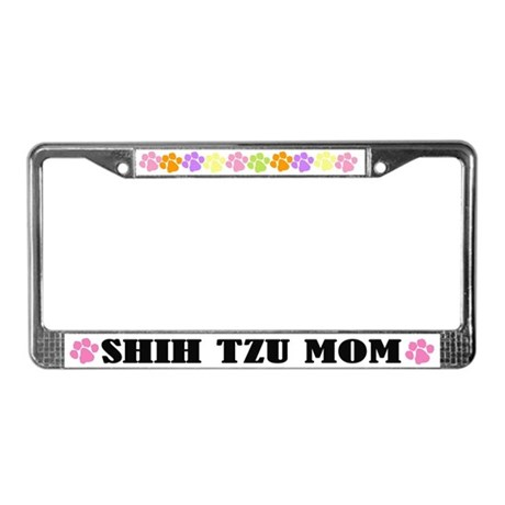 Shih Tzu Mom Pet License Plate Frame