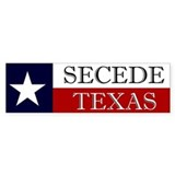 Secede Texas Bumper Car Sticker
