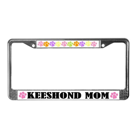 Keeshond Mom License Plate Frame