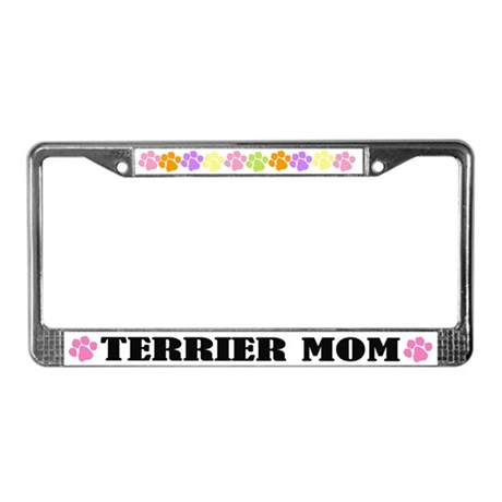 Terrier Mom Pet License Plate Frame